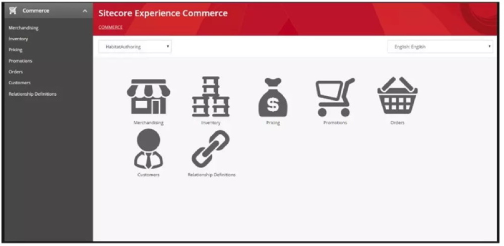Sitecore experience commerce dashboard